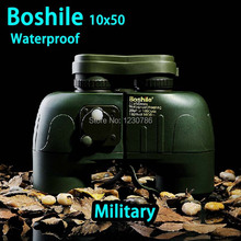 Nuevo llega el 100% genuino estándar militar boshile10x50 binoculares de alta potencia HD van brújula envío gratis