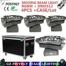 Buy 4PCS/ LED spider light R2G2B2W2 (rgbw 4in1)+Flight Case moving head beam light dmx512 led spotlights professional DJ equipment for $720.00 in AliExpress store
