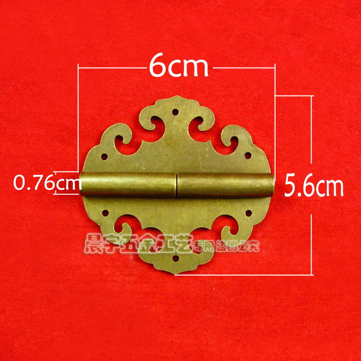 2014 Wholesale Furniture accessories Metal Brass Vintage Wooden Jewelry box hardware hinges cabinet hinge 5pcs/lot Freeshipping(China (Mainland))