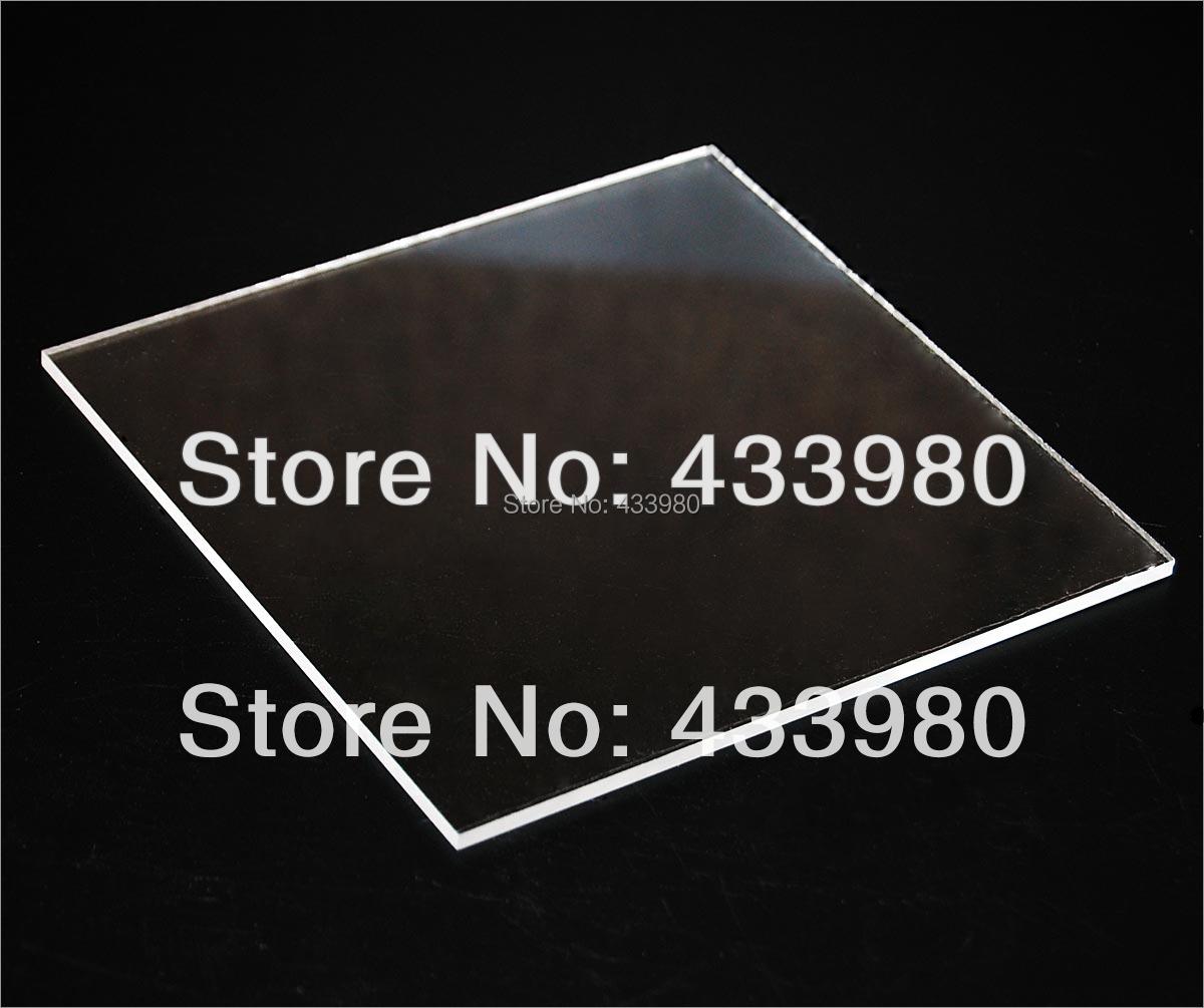 300mm x 300mm x 2.0mm Acrylic (PMMA) Plexiglass Sheets, Transparent Clear (000) - 2pcs/lot(China (Mainland))