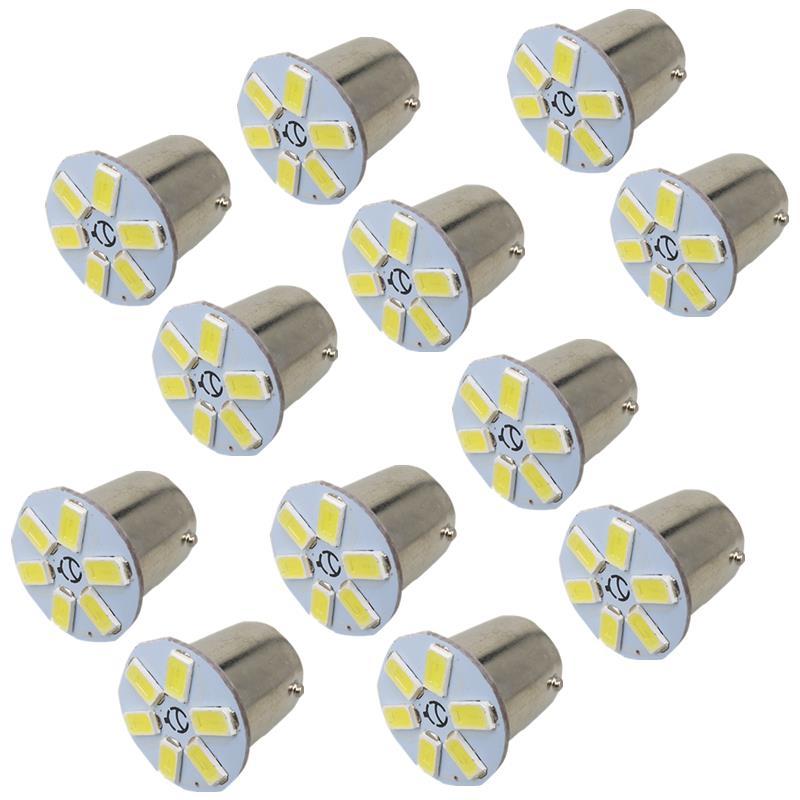 10x Led BAY15D Light 6 Chip 5630 SMD 12V Car Front Turn Signal 1157 Light Bulbs Lamp for Honda Accord Civic CR-V Element White<br><br>Aliexpress
