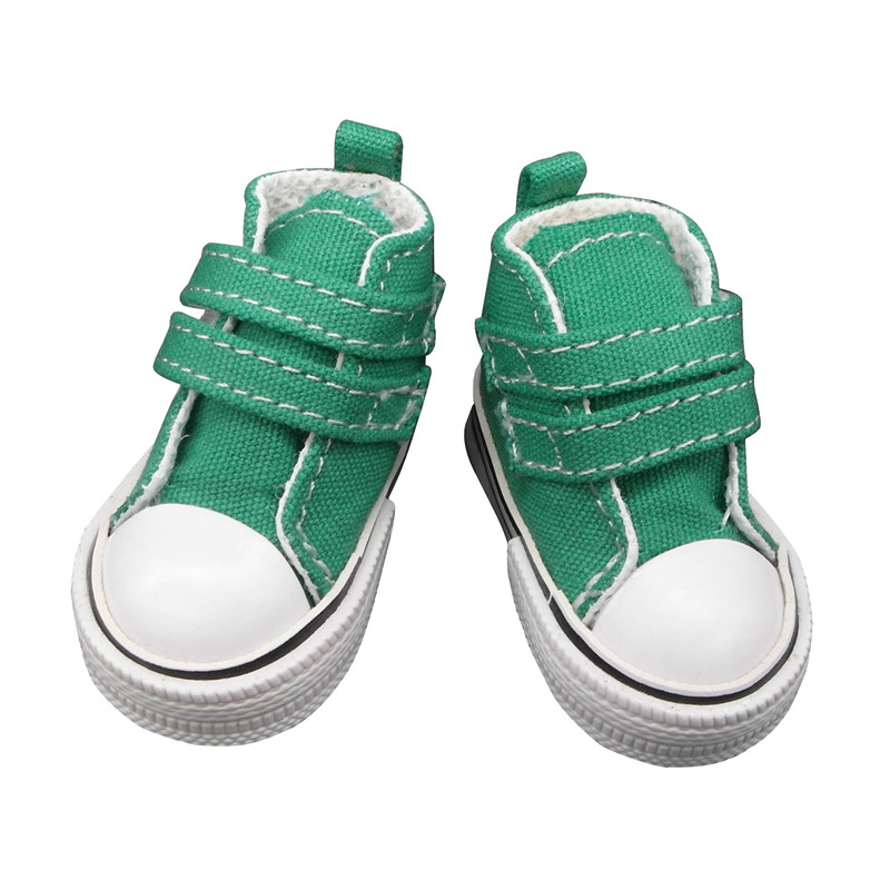 doll shoes green