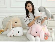 Super cute 1pc 48cm cartoon soft long ear rabbit bunny festival plush doll creative stuffed toy children Valentine's Day gift