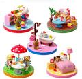 5styles lot Cute Cartoon Anime Hello Kitty Kt Cat Plastic Action Figure Model Toys Christmas Birthday