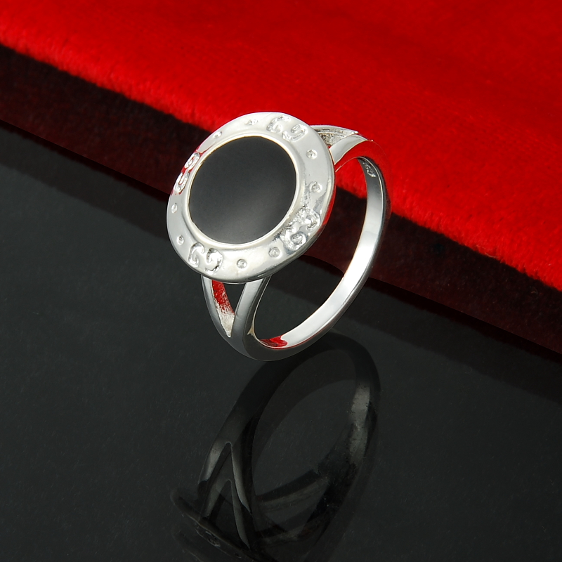 Newest Rings Vintage Silver Plated Jewelry for Women Famous Brand Luxury Black Rings Gu*ci Top Quality Free Shipping(China (Mainland))