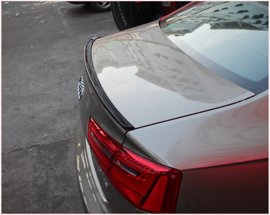 High-Q!Rear Trunk Carbon Fiber Spoiler Rear Wing Spoilers Trunk Lid Diffuser For Audi A6/A6L 2012.2013.2014.2015 .Shipping(China (Mainland))
