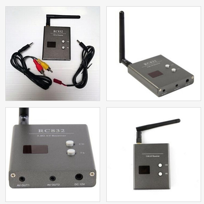Hot 600mW AV video Wireless Receiver FPV 5.8G RX W/ LED RC832 32CH Edition plastic cover Receiver 2015(China (Mainland))