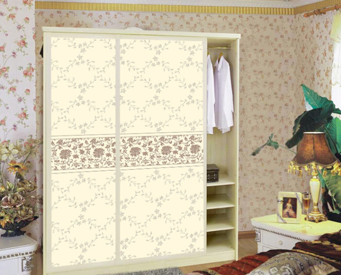 Custom cabinet Stickers closet sticker Simple vine shutter door PVC Removable Home Decor Furniture stickers CWPEU065(China (Mainland))
