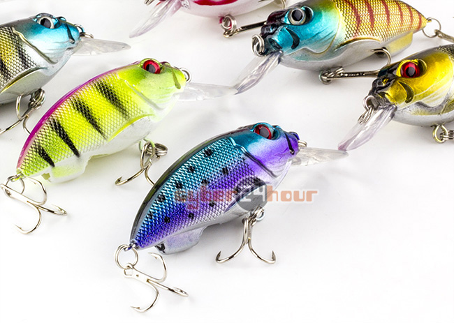 9.6g Biomimetic Sinking Fishing Bass Hard Lures Crankbait Tackle Hook Baits China 8x7cm<br><br>Aliexpress