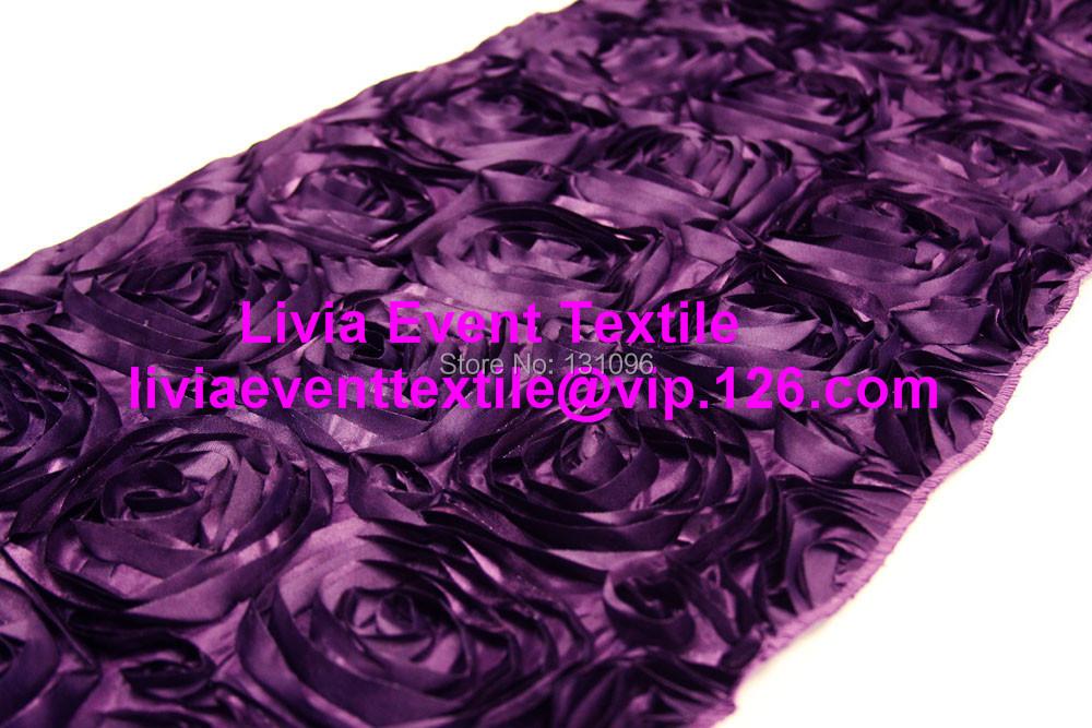 rosette Runner 28x270cm Rosette table  Event wedding 3D Wedding Satin runner Table Party.jpg For