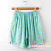 board shorts New summer ladies casual Large Size loose cotton bourette Silk pajamas beach shorts(China (Mainland))