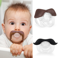 High Quality Funny Baby Nipple Hot Mustache Pacifier Silicone Pacifier Clip Nipples Teether Baby Care