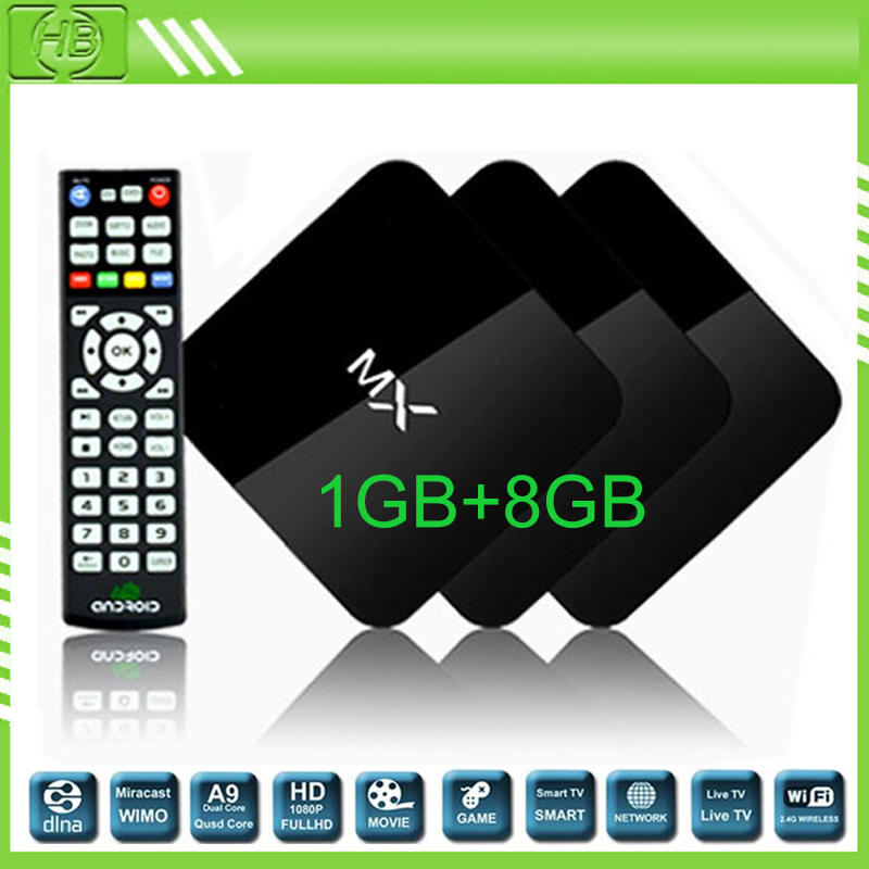 Hot original mx tv box android 4.2.2 amlogic 8726 MX tv box 1G/8G preinstalled all XBMC APPS android media player tv box MXQ(China (Mainland))