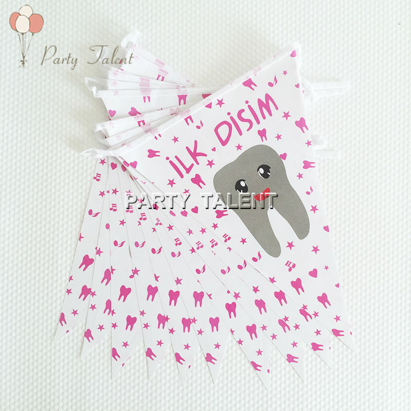 Popular baby girl baby shower themes buy cheap baby girl for Baby first tooth decoration