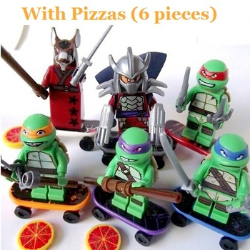 TMNT 6 Pcs Set Teenage Mutant Ninja Turtles Action Mini Figures Building Block Toy New Kids Gift Compatible With Lego