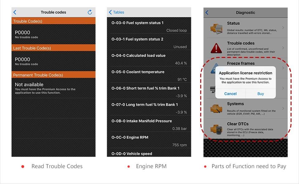Купить Vgate iCar3 Wifi Elm327 Wifi Code Reader Поддержка OBD EOBD OBD2 OBDII Протоколов Автомобили икар 3 WIFI Сканирования для Android/IOS/PC