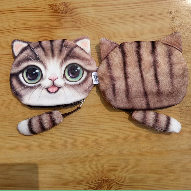 New Cute Cat Coin purse kids wallet kawaii bag change coin pouch children's purse women key holder coin wallet fabric velour(China (Mainland))