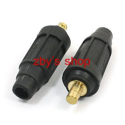 2pcs Plastic Coated 160-250A Welding Cable Connector Plug Adapter Fitting(China (Mainland))