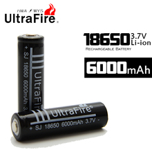 2014 New UltraFire 18650 6000mah Rechargeable 3.7v  Li Ion Battery Freeshipping !