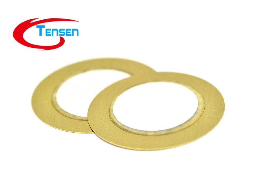 10Pcs Lot F04624 Electronic Components accessories 27mm Piezoelectric Ceramic pieces Copper Buzzer Film Gasket