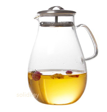 Super large capacity teapot cool water cup high temperature resistant glass flower pot drop pot flower tea cup tea set