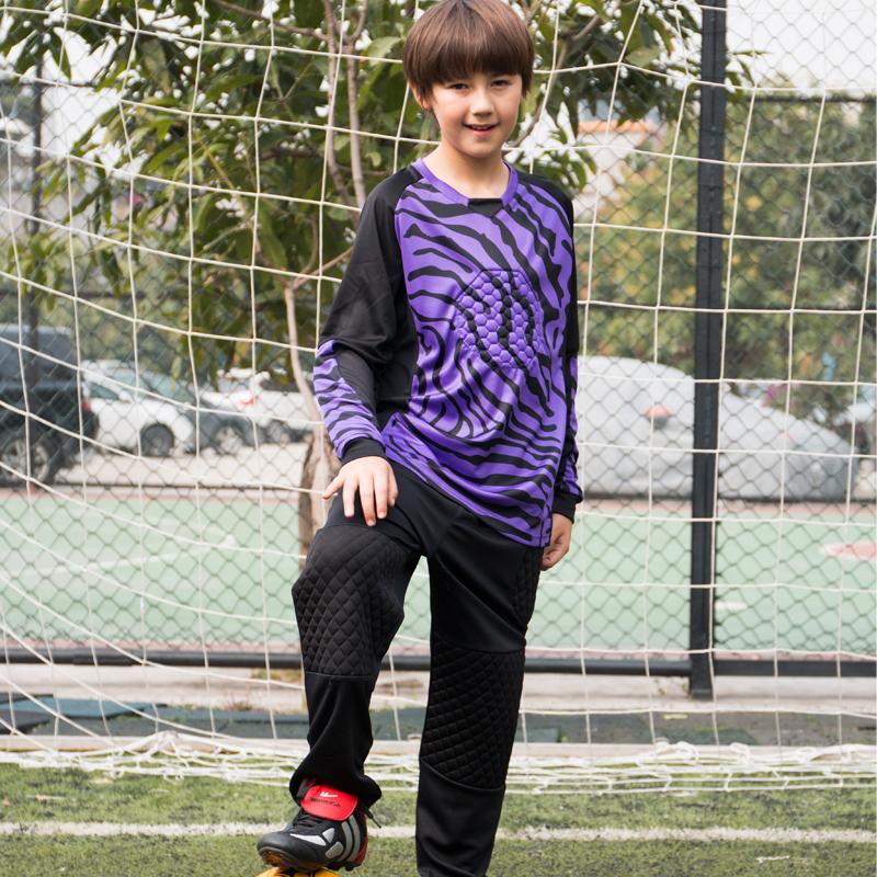 2016 new outdoor kids soccer goalkeeper jersey set men's sponge football long sleeve goal keeper uniforms goalie sport training(China (Mainland))