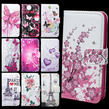 PU Leather Flip Hard Tower Pattern Style Cover Case For iPhone 4G 4S Flower & Butterfly Fashion Stand Wallet Bag Free Shipping(China (Mainland))