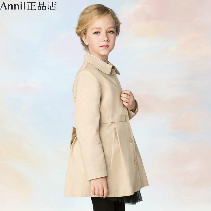 Фотография Annil girls 2016 new spring girl lapel jacket AG615520 fashion girl fashion coat