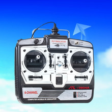 RC Simulator Flight 6CH Helicopter Simulator FPV Quadcopter Control Model 2 With CD Disk Free shipping(Hong Kong)