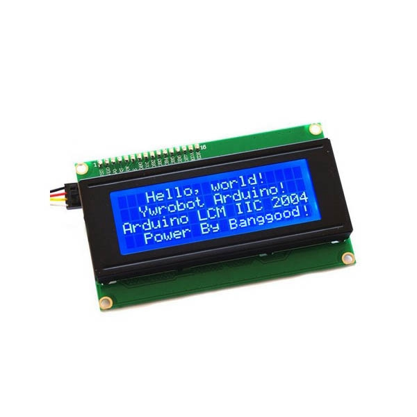 Electronic Part 5V IIC/I2C 2004 204 20 x 4 Character LCD Display Module Blue Screen For Arduino Project Interface I2C(China (Mainland))
