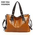 Free Shipping 2016 New Women Top handle Bag Shoulder Bags PU Leather Handbags Solid Tote Bolsas
