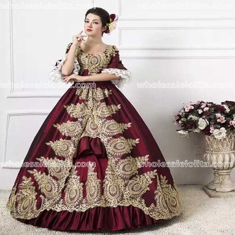 Здесь можно купить  Classic 18th Century Marie Antoinette Inspired Dress Wedding Masquerade Gown Reenactment Burgundy  Одежда и аксессуары