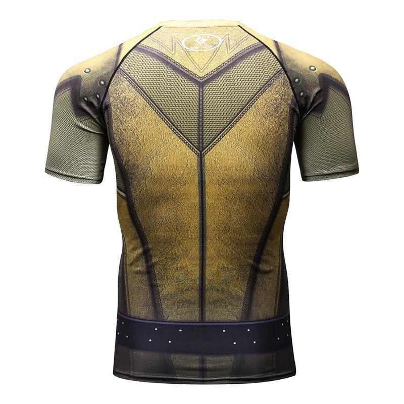 Compression Shirt Batman VS Superman 3D Printed T-shirts Men Raglan Short Sleeve Superhero Compression Shirt Fitness Tops