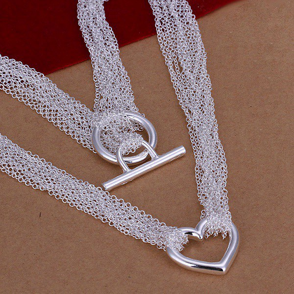 silver plated Necklace Fashion Jewelry