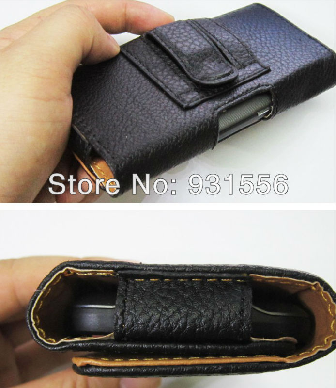 Belt Clip Holster Luxury Leather Pouch Magnetic Flip Case Full Skin Cover Bag for Newman K1 5.0'' in Stock Black Color FreeShip(China (Mainland))