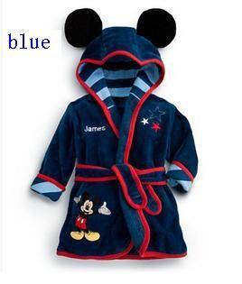 новые мягкие теплые девочку 1шт дети мальчик ночью Ванна одеяние пижамы мультфильм homewear пижамы одежда