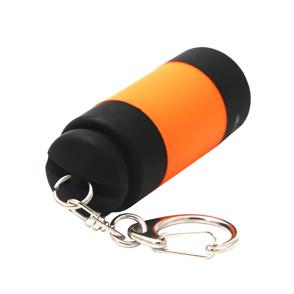 6 Colors Portable Rechargeable USB Mini LED Torch Lamp Light Flashlight Key Chain Ring Mini Flashlight Lanterna Built in Battery