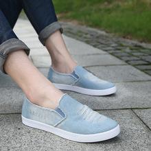 Denim Casual Shoes Men Canvas Shoes Summer Men Flats 2016 Slip On Zapatillas Hombre Walking Shoes Outdoor Chaussure Homme