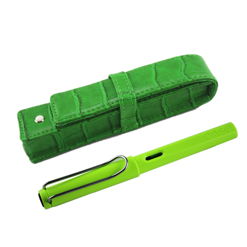 Free shipping wholesale school office supplies pen Usesun Luxury blue & green fountain pen high quality writing pen(China (Mainland))