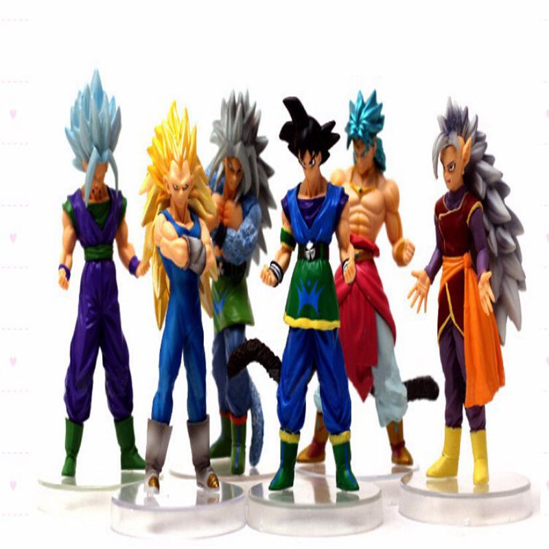 anime 6 PCS / Set dragon ball Z pvc Action Figure Toys 15CM Super Saiyan Toy Collectible Toy model for Birthday Gift juguetes(China (Mainland))