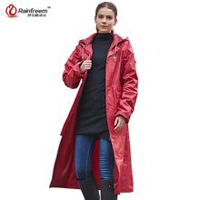 Rainfreem Impermeable Raincoat Women&Men Waterproof Trench Coat Poncho Double-layer Rain Coat Women Rainwear Rain Gear Poncho