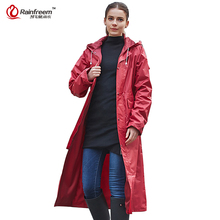 Rainfreem Impermeable Raincoat Women&Men Waterproof Trench Coat Poncho Double-layer Rain Coat Women Rainwear Rain Gear Poncho