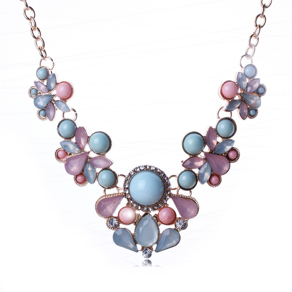Early summer small pure and fresh, the moonlight the cat's eye gem flower necklace Collarbone chain Han edition of pop XL58011(China (Mainland))