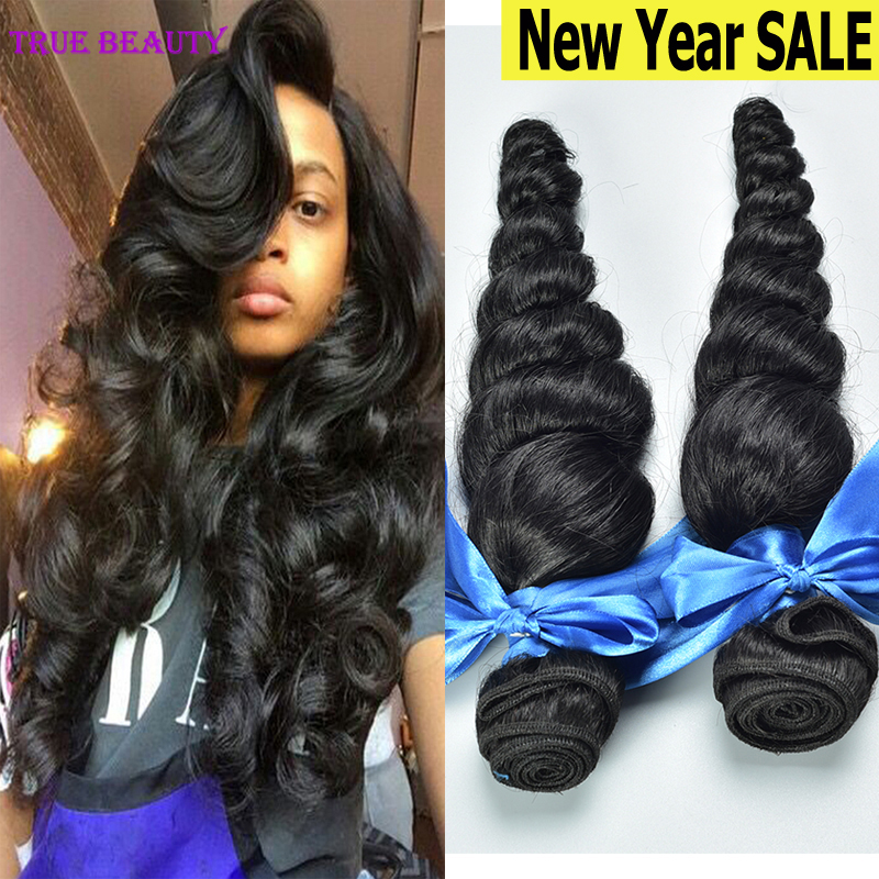 Virgin Peruvian Loose Wave 4Pcs/lot Unprocessed Peruvian Virgin Hair Loose Wave 7A Soft Human Hair Weave Bundles No Shedding