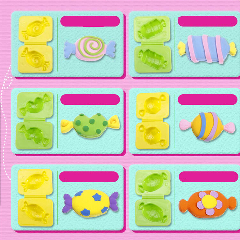 Candy 6pcs Plasticine Tool/Mold Soft Polymer Modelling Clay good package Effect Blocks Special Toys DIY polymer clay(China (Mainland))