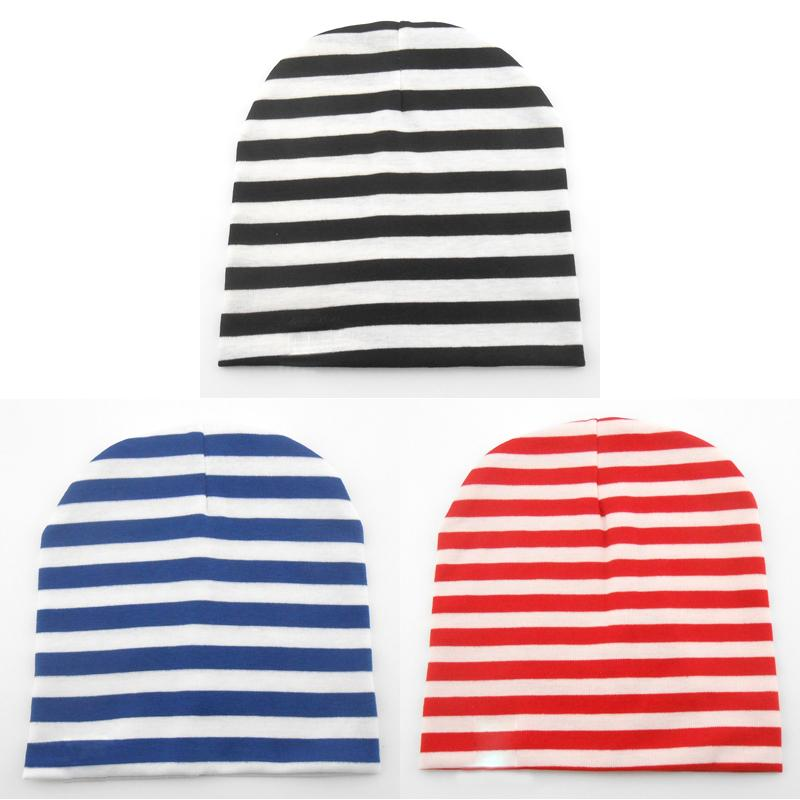 Cute Lovely Baby Toddler Child Kids Stripe Printed Cotton Knitted Winter Warm Cap Boy Girl Hat 7 months to 3 years old beanie(China (Mainland))