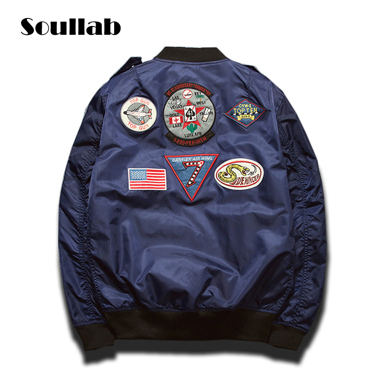 black olive blue 2016 new fashion mens male stickers bomb ma1 varsity lettermen jacket baseball coat brand clothing kanye west