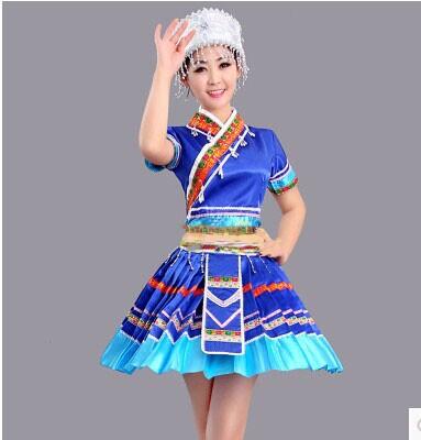 New Children Chinese Folk Dance Clothing Miao Hmong Clothing Miao Costume(China (Mainland))