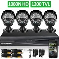 DEFEWAY 1200TVL 720P HD Outdoor Home Security Camera System 4CH 1080N HDMI DVR CCTV Video Surveillance