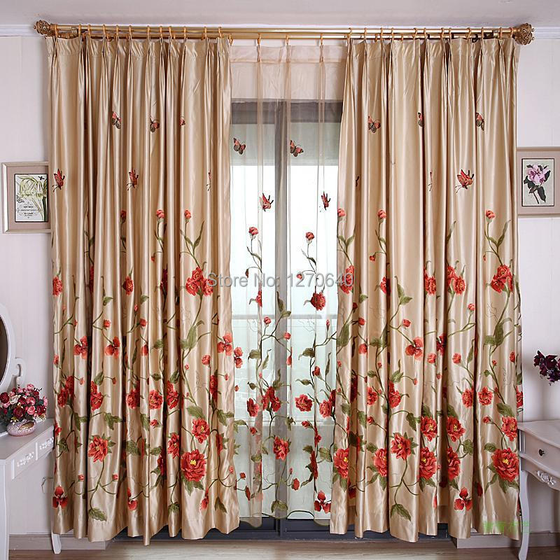 2014 Boutique Designer Luxury Embroidered Window Drape Curtain Finished Roman Organza Curtain